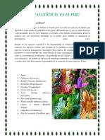 Plantas Exóticas en El Perú