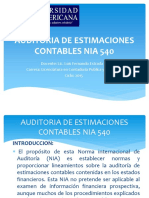 Auditoria de Estimaciones Contables NIA 540