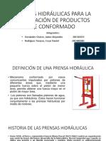 Prensas Hidráulicas Para La Elaboración de Productos De