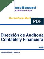 Informe bimestral  Sept - Oct 2018  Contraloría León