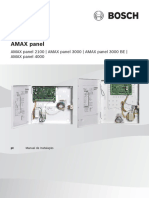 BOSCH AMAX panel family Installation Manual PT