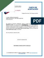 Carta de Aceptacion Para Practicas