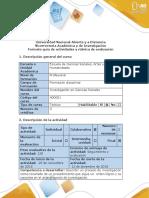 5 Guía de Actividades y Rúbrica de Evaluación - Paso 5 - Describir El Proceso Investigativo
