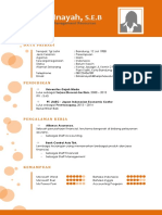 Contoh Template CV Kreatif 2