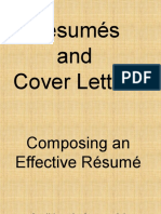 Composing Resumes and Cover Letters