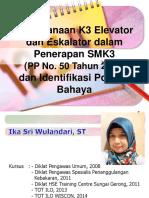 02. SMK3 ELEVATOR DAN ESKALATOR Serta Identifikasi Potensi Bahaya
