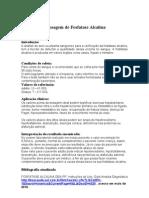 Dosagem de Fosfatase Alcalina