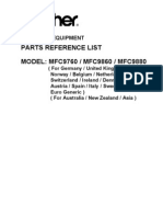 Brother MFC 9760 9860 9880 Parts Manual