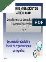 1ra Clase - Escala y Localización Geográfica