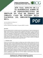 Xivial_conservacion Vial- Efecto de Escorrentia Superficial Sobre El Sistema de Ifraestructura de Drenaje en Vias de Idole No Urbana. Caso de Estudio- Ruta Nacional 219, Oreamuno, Costa Rica