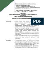 SK Tentang Standarisasi Dan Klasifikasi Pengkodean