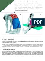 36 photos bien illustrées pour vous montrer quel muscle vous étirez !