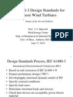 Manwell Jim IEC61400 3DesignStandardsUpdate
