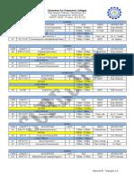 CSPC Class Sched (First Year, First Sem)