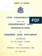 13th Graduation-17th Dec 1984