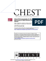 Chest US for the Diagnosis and Monitoring of High Altitude Pulmonary Edema