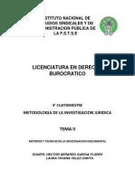 TEMA II MÉTODOS Y TÉCNICAS DE INVESTIGACIÓN DOCUMENTAL( HECTOR Y LAURA).pdf
