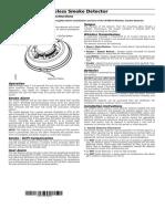 Detector de Humo Inalármbrico - WS8916_ESP