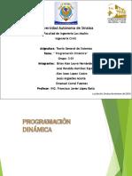 Programacion Dinamica (PD)