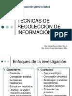Tecnicas de Recoleccion de Informacion