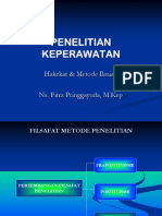 Hakikat Penelitian Keperawatan s1 smt 7(TM1).ppt