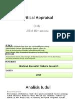 Critical Appraisal jpurnal anemia
