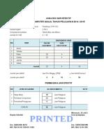 Analisis Hari Efektif Finishing ( 3 Pk 19 )