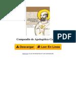 YDTG Compendio de Apologtica Catlica by Jos Miguel Arriz Roberti 1496112261