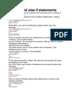 Java Script i Else and Testing