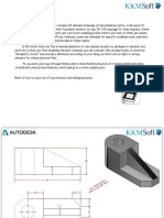 Autodesk Inventor Practice Part Drawings