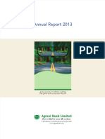 Annual Report 2013 of Agrani Bank Limited