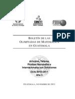 Informacion de Matematica 2011