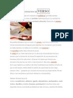 Definición de Verso y de Prosa