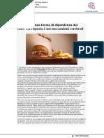 L'obesità è una forma di dipendenza dal cibo? La risposta è nei meccanismi cerebrali - Intopic.it, 22 novembre 2018