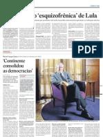 Entrevista de Llosa ao Estadão