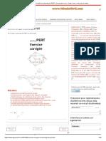 TD corrigé en planning de PERT en format pdf