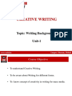 Backgrounders Wrinting (Creative Writing)