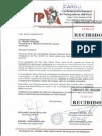 Carta CGTP a Embajada Uruguay