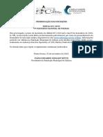Edital 037 LITERATURA 2015 Concurso de Poesias Prorrogação