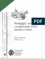 Pedagogia Curriculo y Subjetividad