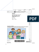 PTE YL - Springboard Sample Test