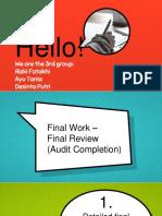 Pertemuan 10 Final Work II - Chapter 12 Part 2