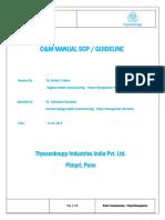 O&M Manual SOP Rev 01