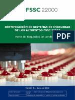 Requisitos Auditoria FSSC22000 en español