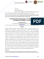 INTEGRATION OF ERASMUS+ STUDENTS IN ENTREPRENEURSHIP CLASSES