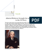 Admiral Rickover Brought the Nuclear Age to the US Navy