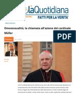 Omosessualità, La Chiamata All'azione Del Cardinale Mueller