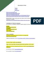 Documentación y Bibliografia Titeres