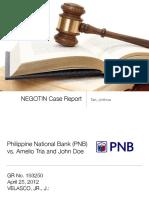 NEGO Case Report