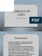 Conflict of Laws in Intellectual Property Laws Report